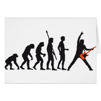 evolution guitar greeting card