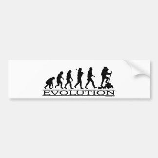 Evolution - Hiking Bumper Sticker