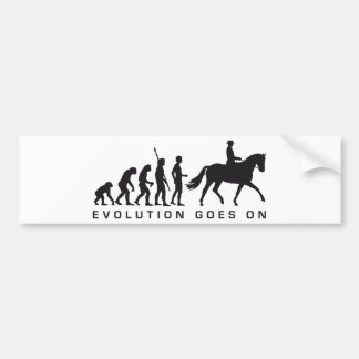 evolution horse riding bumper sticker