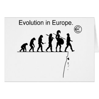 Evolution In Europe Greeting Card