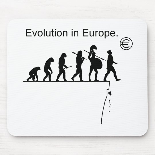 Evolution In Europe Mouse Pad