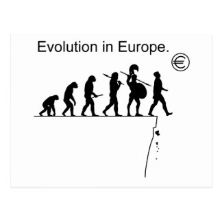 Evolution In Europe Post Cards