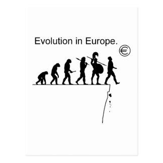 Evolution In Europe Postcard
