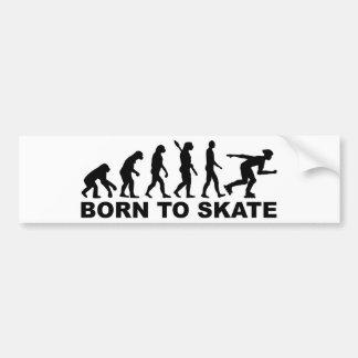 Evolution Inline Skating Bumper Sticker