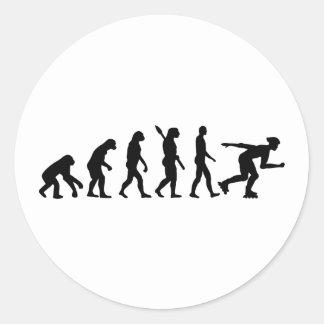 Evolution inline skating classic round sticker