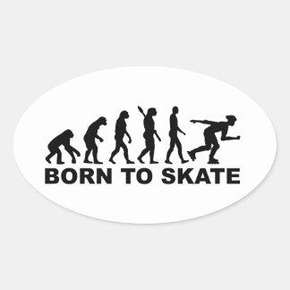 Evolution Inline Skating Oval Stickers