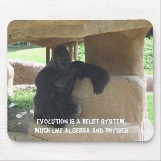 Evolution is a belief system mousepad