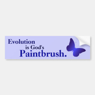 Evolution is God's Paintbrush Bumper Sticker