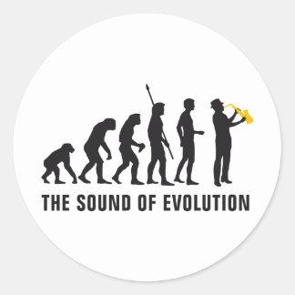 evolution jazz round sticker