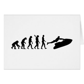 Evolution Jet Ski Greeting Card
