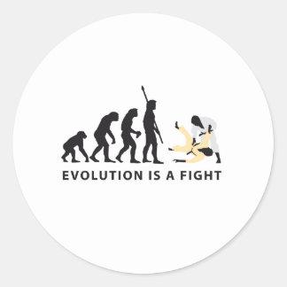 evolution Judo Round Sticker