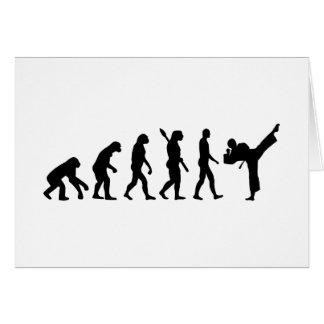 Evolution Karate kickboxing Greeting Card