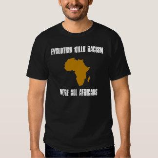 Evolution Kills Racism T Shirts