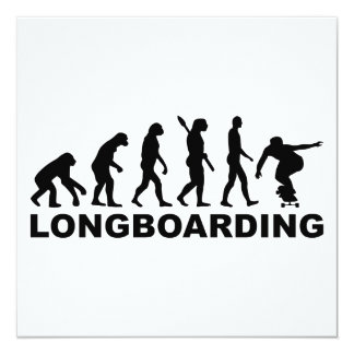Evolution Longboarding 13 Cm X 13 Cm Square Invitation Card