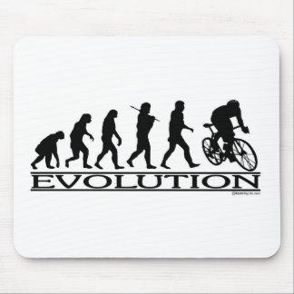 Evolution Male Cyclist Mouse Mat