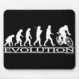 Evolution Male Cyclist Mouse Mat