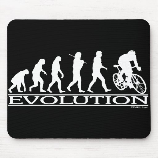 Evolution Male Cyclist Mouse Pads