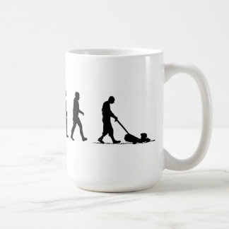 evolution man lawn lawnmower coffee mug