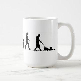 evolution man lawn lawnmower basic white mug