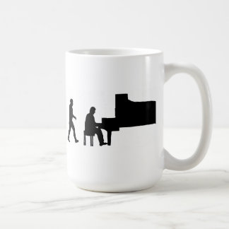 evolution man piano pianist music musician coffee mug