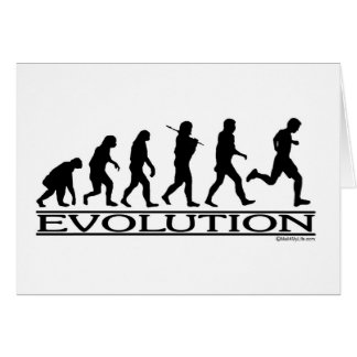 Evolution - Man Running Card