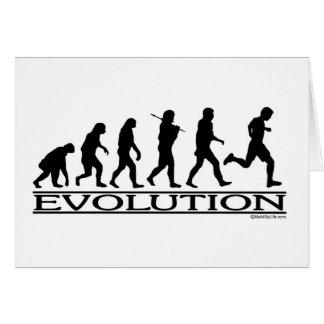 Evolution - Man Running Cards