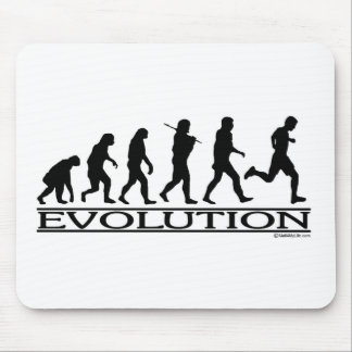 Evolution - Man Running Mouse Mat