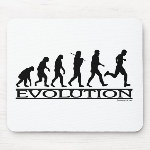 Evolution - Man Running Mouse Pad