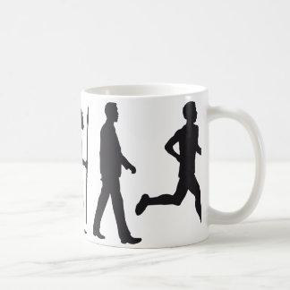 Evolution marathon runner basic white mug