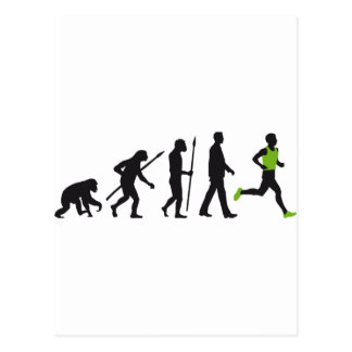 Evolution marathon runner postkarten