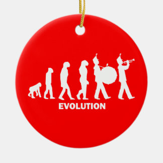 evolution marching band christmas ornament