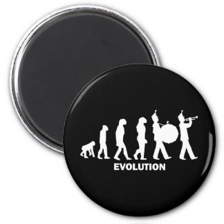 evolution marching band fridge magnet