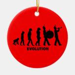 evolution marching band round ceramic decoration