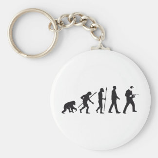 evolution mason with drill hammer basic round button key ring