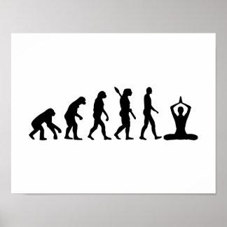 Evolution Meditation Poster