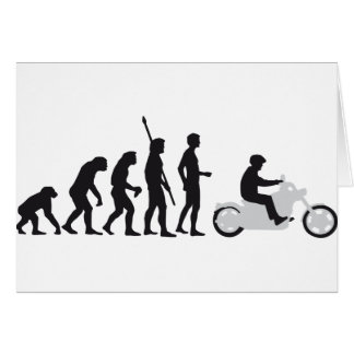 evolution more biker card