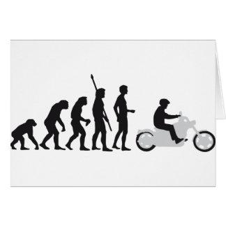 evolution more biker card