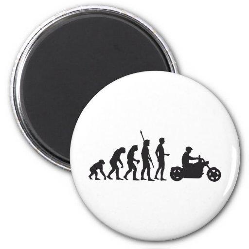 evolution more biker fridge magnet