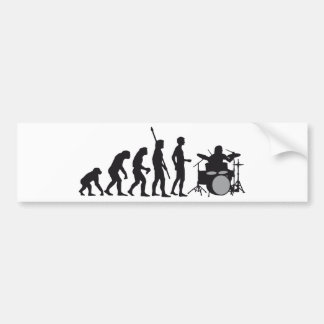 evolution more drummer bumper sticker