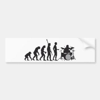 evolution more drummer bumper sticker