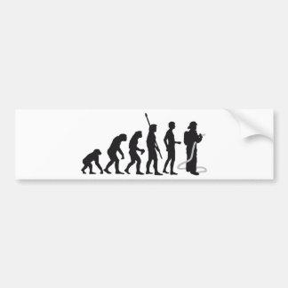 evolution more firefighter bumper sticker