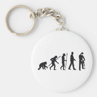 evolution more jackhammer more worker basic round button key ring