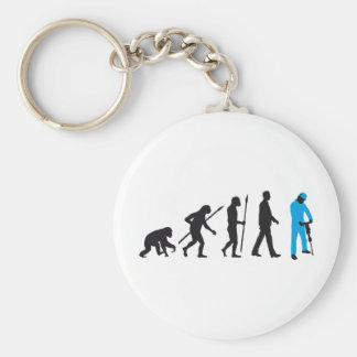 evolution more jackhammer more worker basic round button key ring