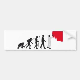 evolution more painter bumper stickers