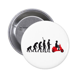 evolution more scooter 6 cm round badge
