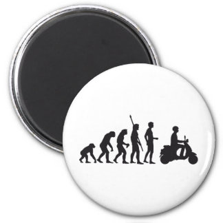 evolution more scooter 6 cm round magnet