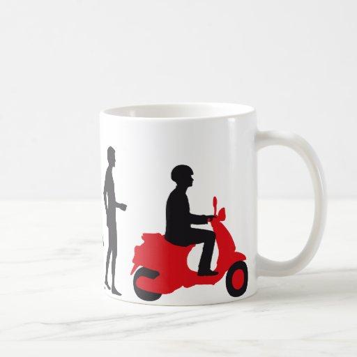 evolution more scooter mugs