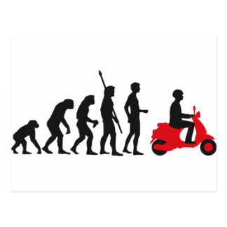 evolution more scooter postcard