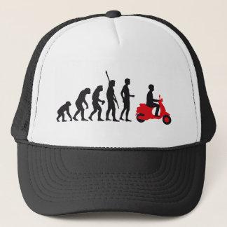 evolution more scooter trucker hat