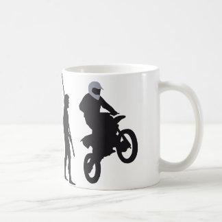evolution motorbike basic white mug